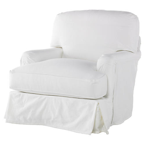 Caroline Swivel Chair, White