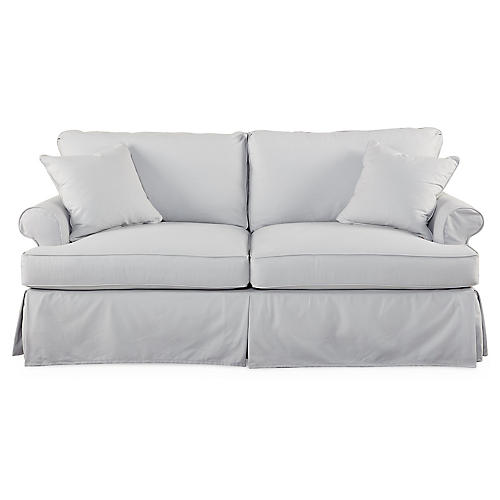 "Sara 78"" Roll-Arm Sofa, Ash Gray"