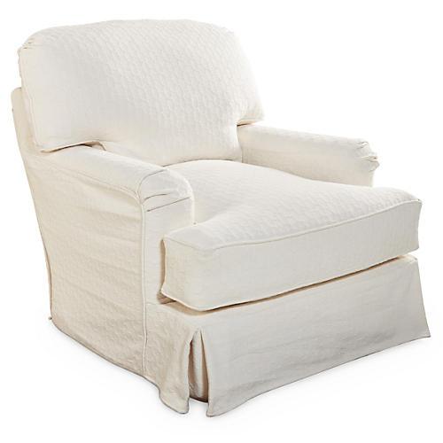 Caroline Swivel Chair, Cloud White