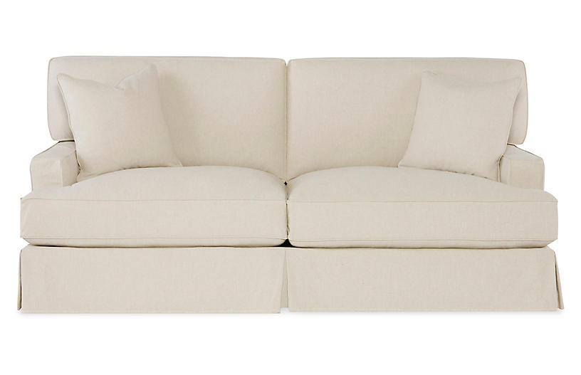Cotton 80 Inch Sofa One Kings Lane