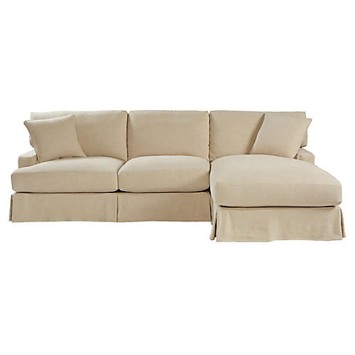 Nelson Right-Facing Sectional, Natural