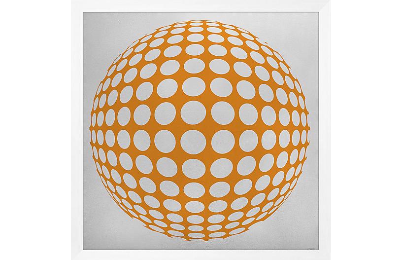 Lillian August, Silver Leaf Graphic Orange