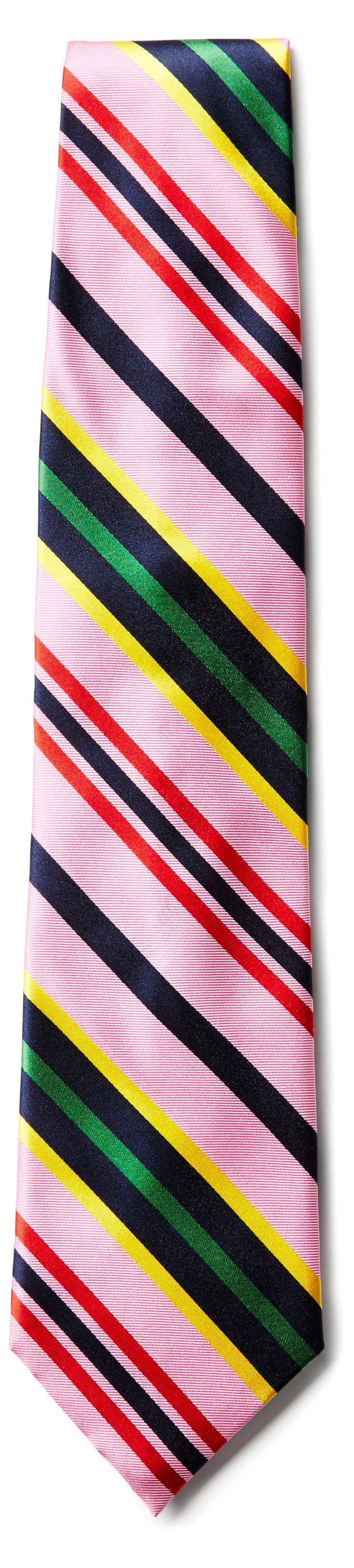 Bubble Gum Stripe Necktie