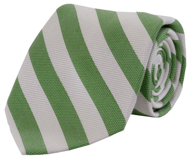 Cotton & Linen Stripe Necktie