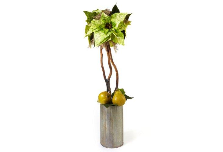 Poinsettia & Pear Topiary