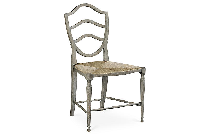 Bodiam Side Chair - Gray - Jonathan Charles