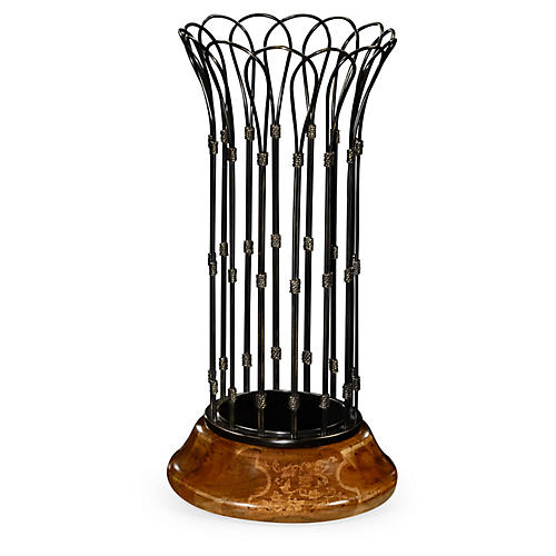 """32"""" Rossett Umbrella Stand, Antiqued Black"""