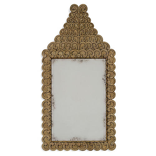 "Arlington 30""x55"" Wall Mirror, Washed Oak"