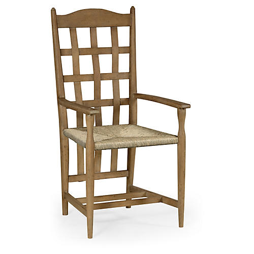 Tarvin Armchair, Antiqued Oak