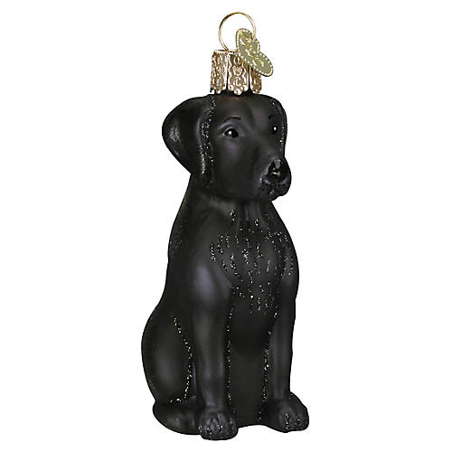 Labrador Ornament, Black