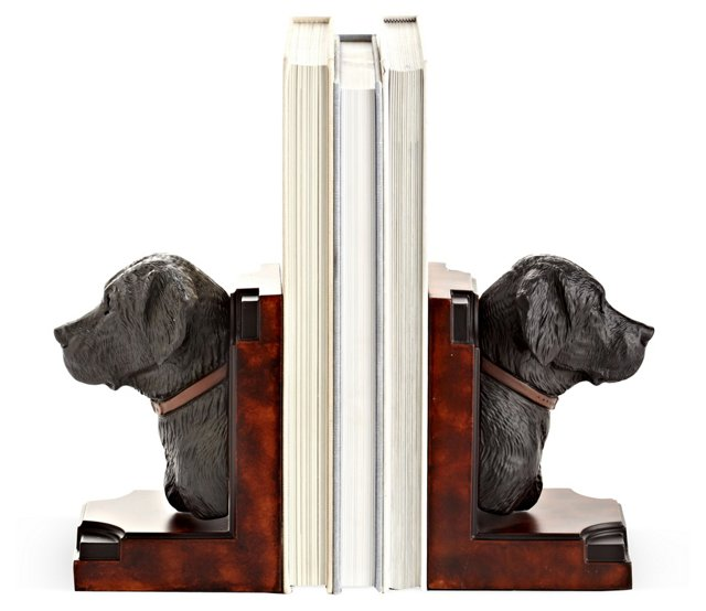 Pair of Black Lab Bookends