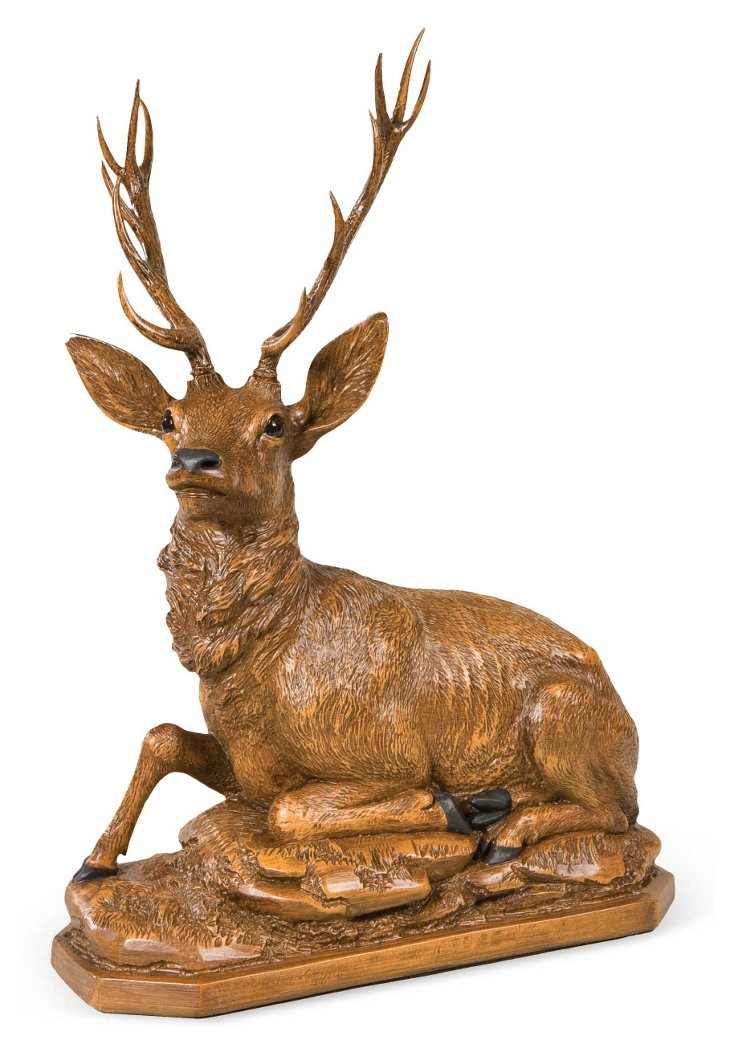 "15"" Stately Stag Figurine, Brown"