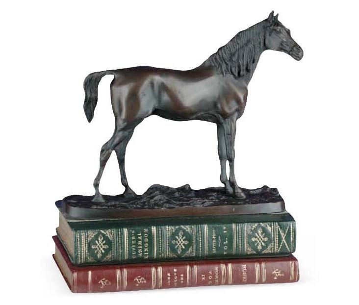 """12"""" Noble Horse Figurine, Brown"""