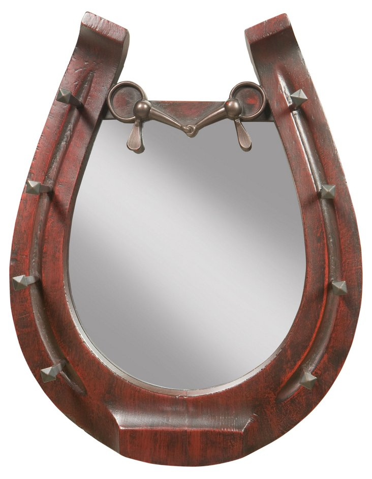 8-Hook Horseshoe Mirror