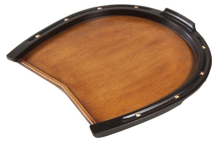 "16"" Horseshoe Tray, Brown"