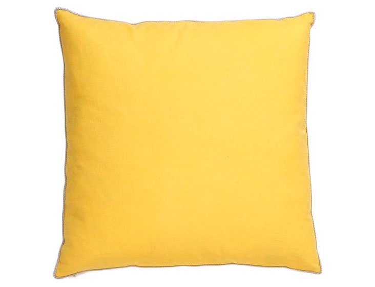 Solid 22x22 Cotton Pillow, Yellow