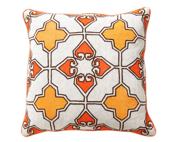 Lamina 18x18 Linen Pillow, Orange