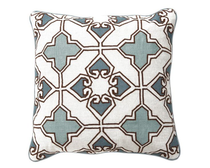 Lamina 18x18 Linen Pillow, Blue