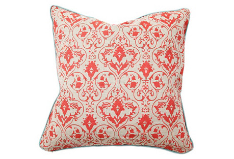 Gate 22x22 Cotton Pillow, Red