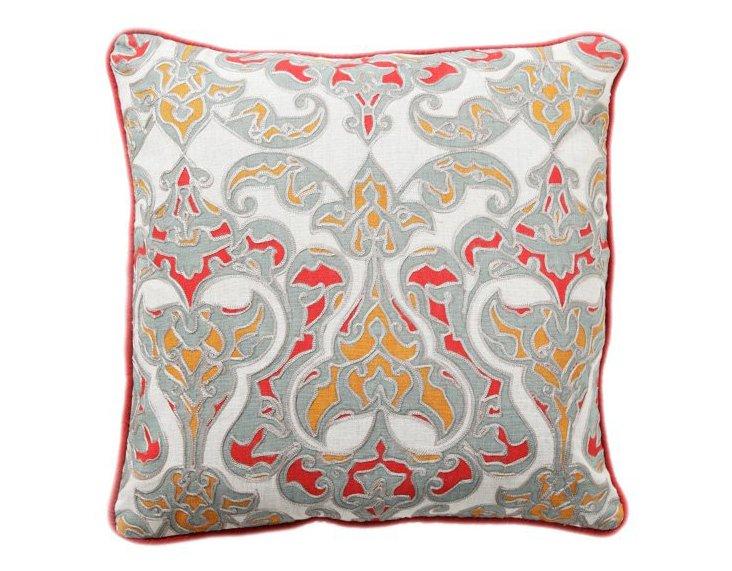 Soleil 18x18 Cotton Pillow, Multi