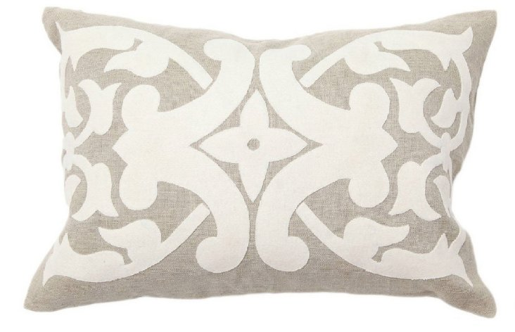 Madison 14x20 Cotton Pillow, Gray
