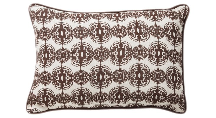 Flora 14x20 Pillow, Brown