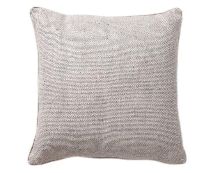 Willow 22x22 Cotton Pillow, Ash