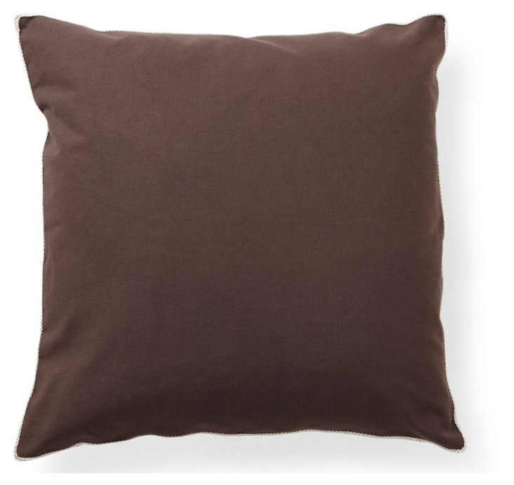 Solid 22x22 Pillow, Chocolate