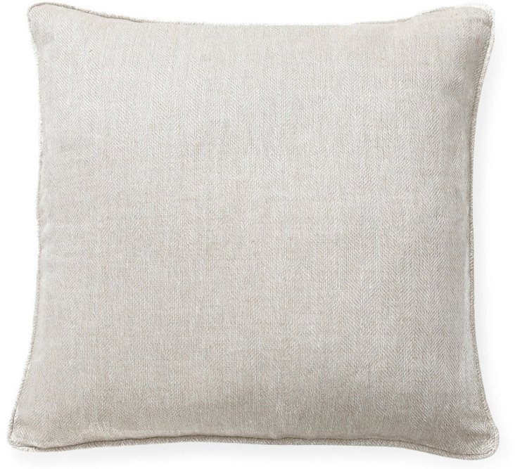 Willow 22x22 Linen Pillow, Gray
