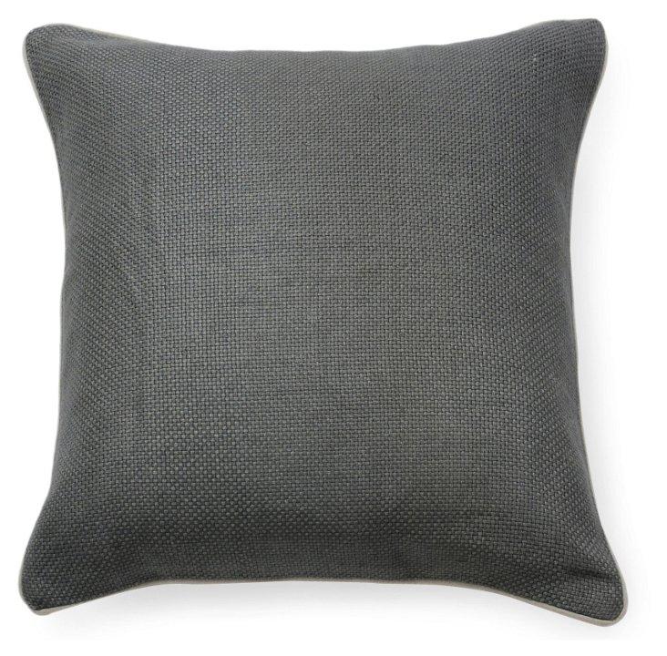 Willow 20x20 Pillow, Steel