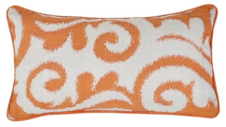 Madeleine 14x26 Linen  Pillow, Orange