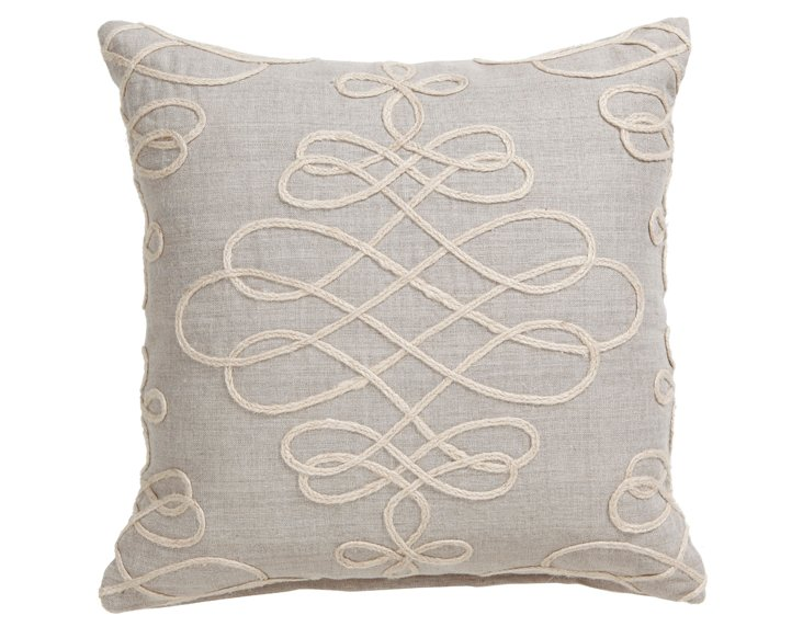 Adeline 18x18 Pillow, Natural