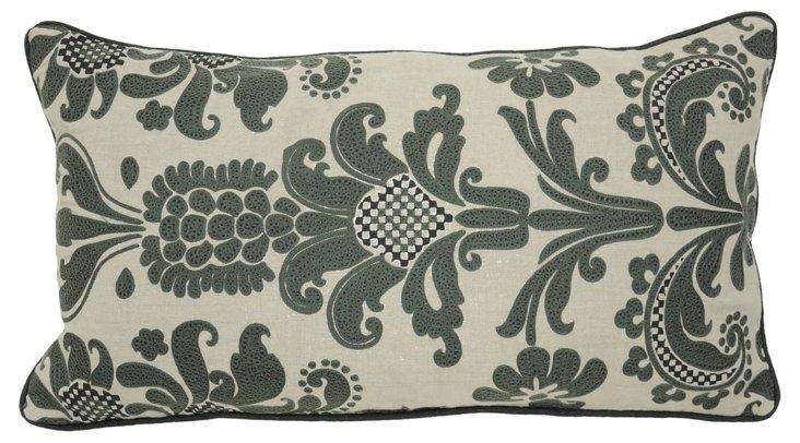 Pierre 14x26 Linen Pillow, Gray