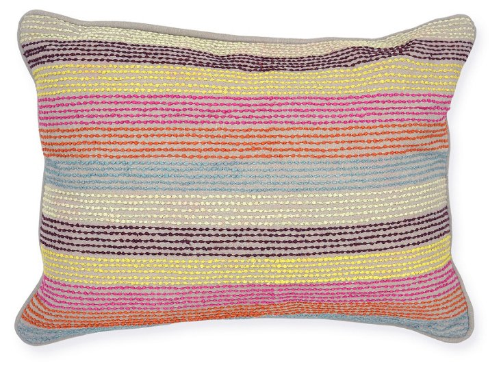 Zahara 14x20 Cotton Pillow, Multi