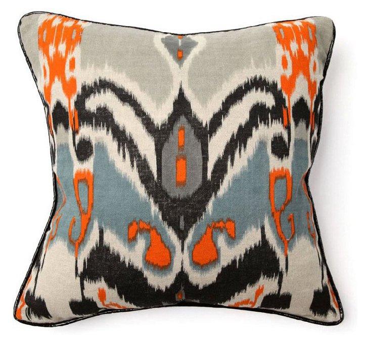S/2 Ikat 18x18 Linen Pillows, Multi