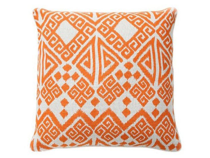 Tangier 22x22 Linen Pillow, Orange