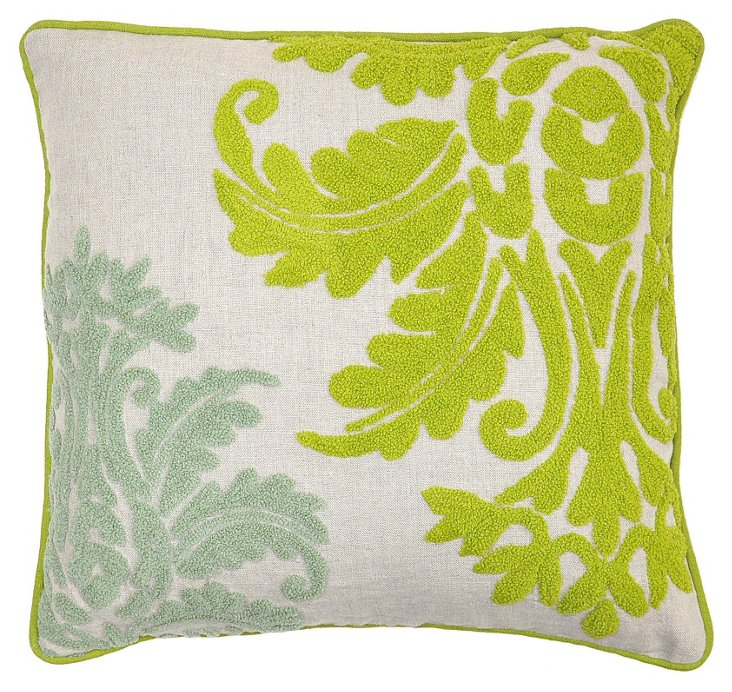 Modo 18x18 Linen Pillow, Multi