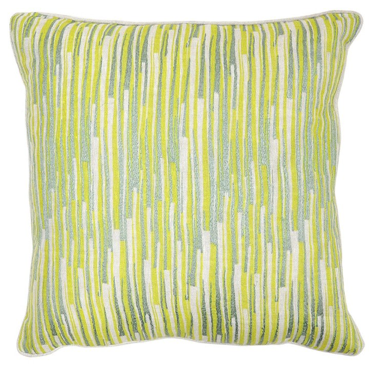 Gran 18x18 Cotton-Blended Pillow, Green