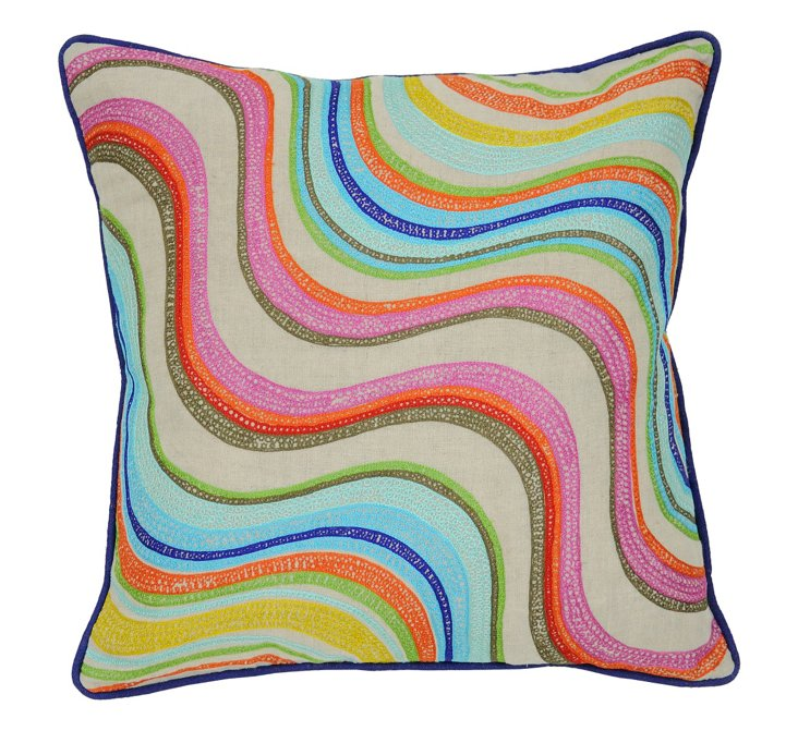 Matisse 18x18 Linen Pillow, Multi