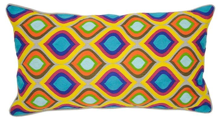 Mosaic 14x26 Linen Pillow, Multi