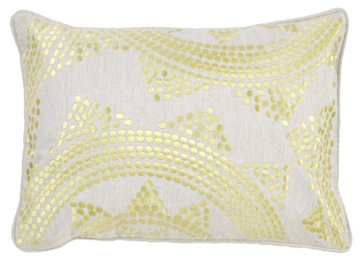 Mizuki 14x20 Linen-Blended Pillow, Green