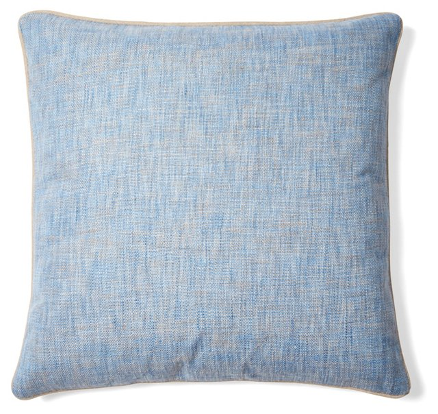 Metro 22x22 Pillow, Blue