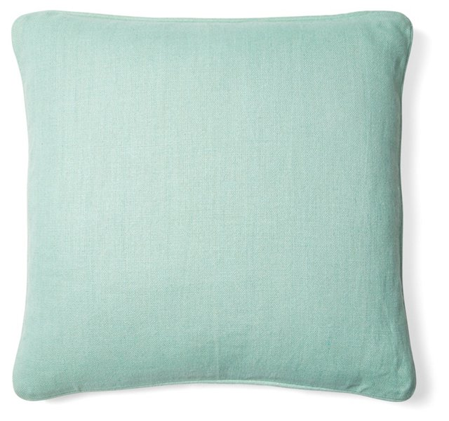 Metro Jungle 22x22 Cotton Pillow, Mint