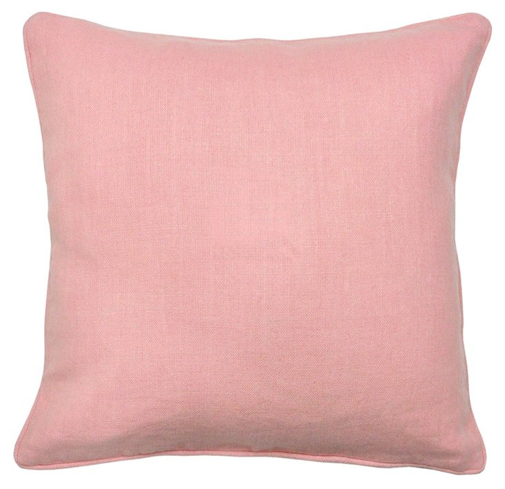 Avalon 22x22 Cotton Pillow, Pink