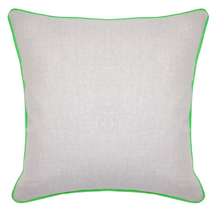 Dakota 22x22 Cotton Pillow, Green