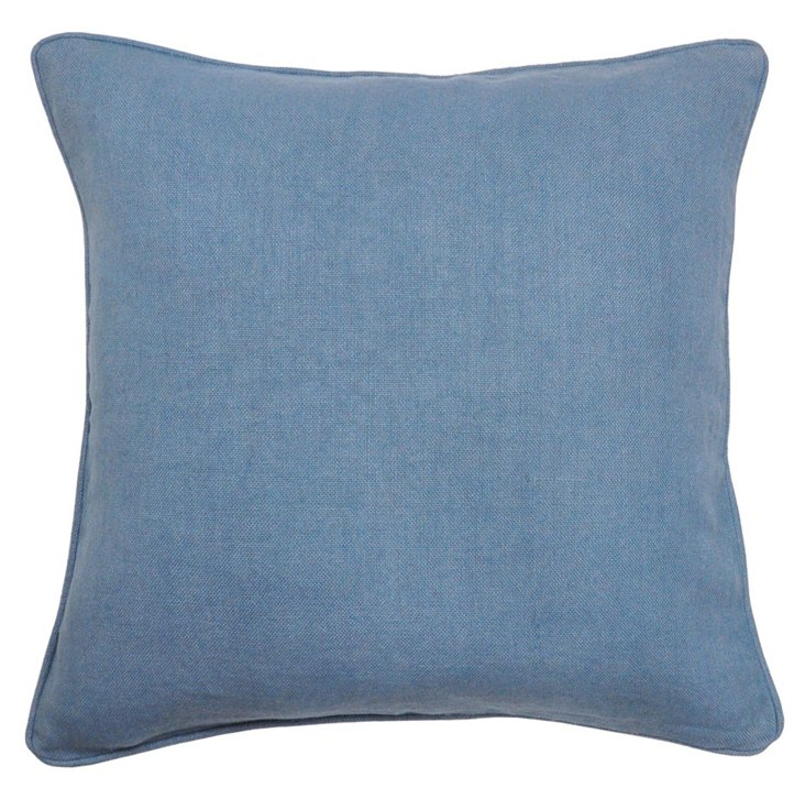Ocean 22x22 Cotton Pillow, Blue