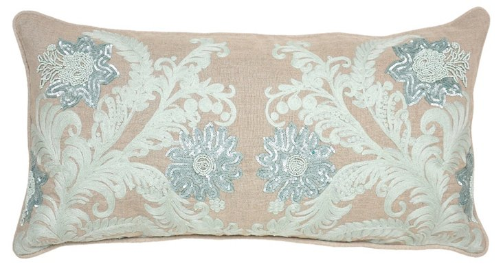 Shim 14x26 Embroidered Pillow, Multi