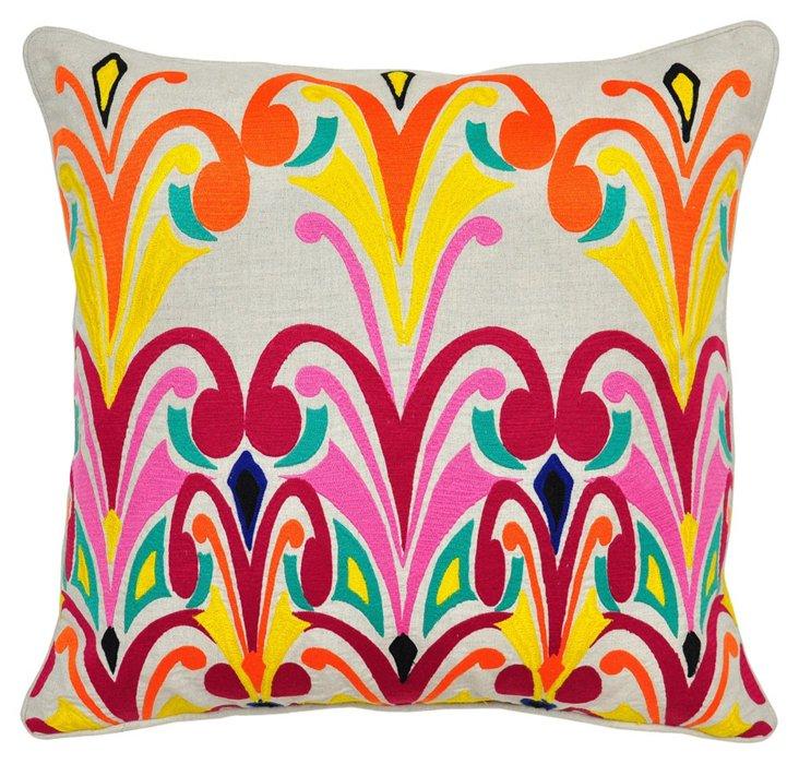 Dori 22x22 Cotton Pillow, Multi