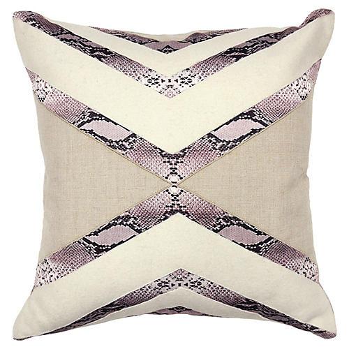 Margo 18x18 Linen Pillow, Natural