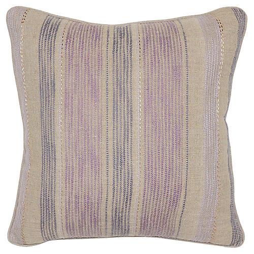 Jillian 22x22 Linen Pillow, Mauve